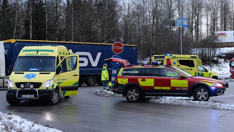 Påkörd person Systratorpsvägen/Arabygatan i Växjö