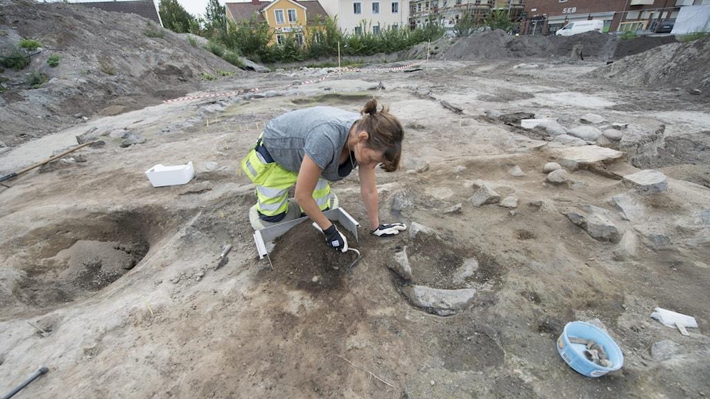 Utgrävning i Enköping.
