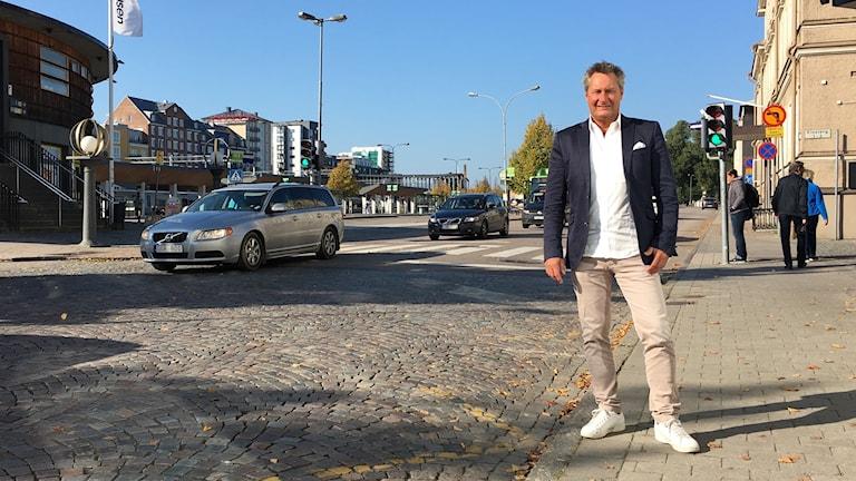 Per Olof Löfberg vid Norra Järnvägsgatan.
