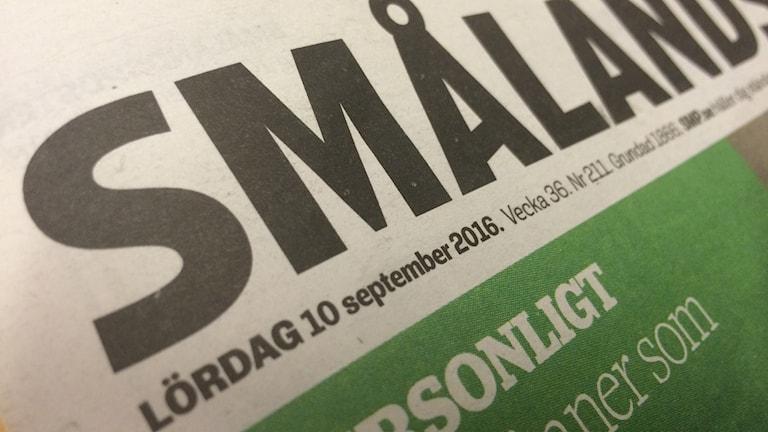 Bild på dagens tidning.