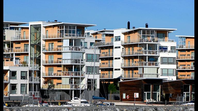 Lägenhetshus. Foto: Hasse Holmberg / Scanpix