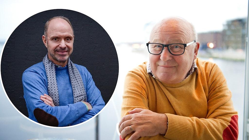 Thomas Ravelli inklippt till en bild på Lars-Åke Lagrell