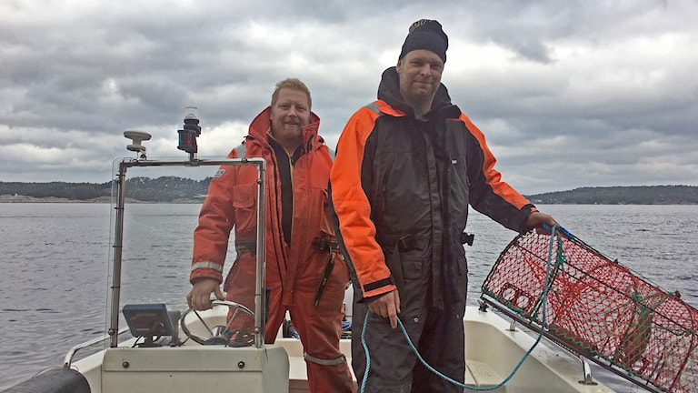 """Christer """"Bojan"""" Bengtsson och fiskekamrat"""