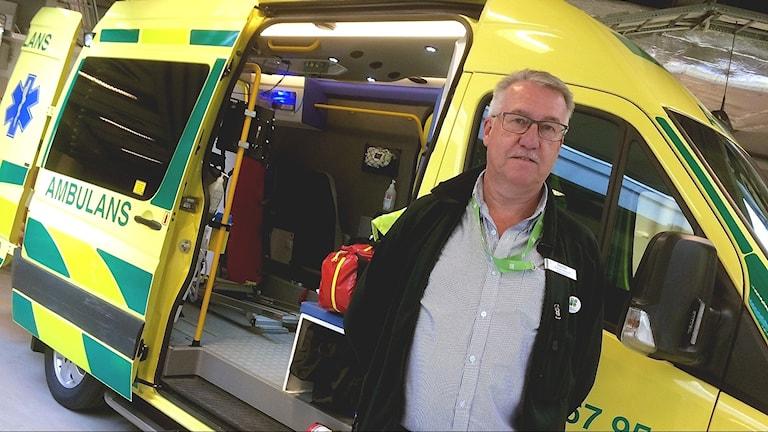 Stefan Engdahl, verksamhetschef för ambulansen i Region Kronoberg.