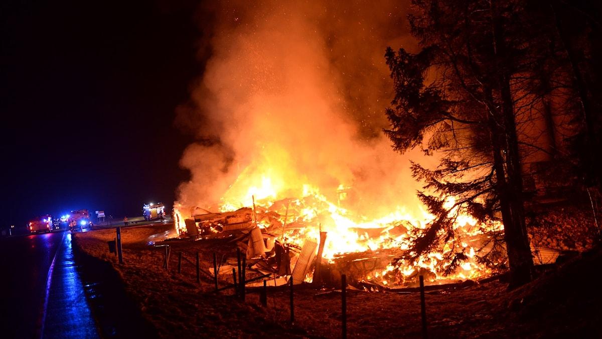 Branden i Össlöv, norr om Ljungby.