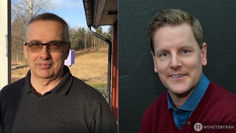 Martin Blom och Niklas Jihde. Montage