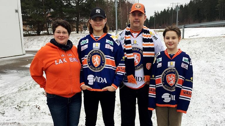 Familjen Juto från Braås på väg till Malmö