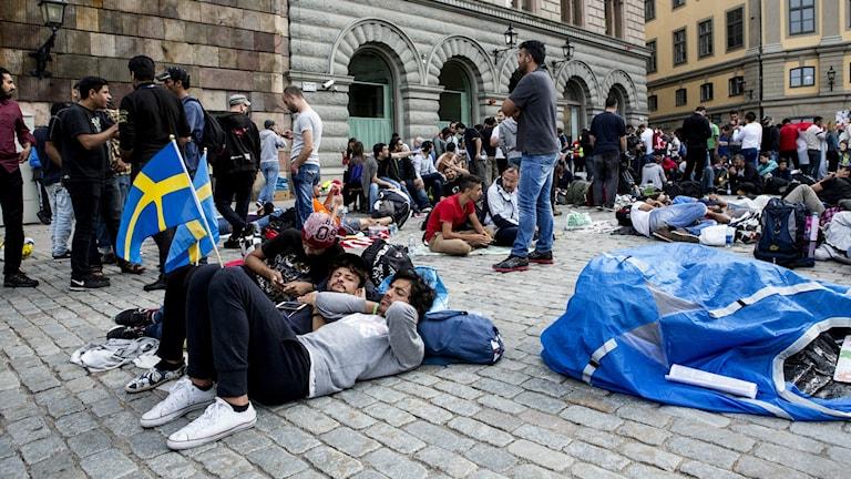 Flyktingar i Stockholm
