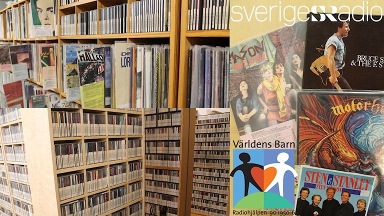 Skivor i Sveriges Radios arkiv.