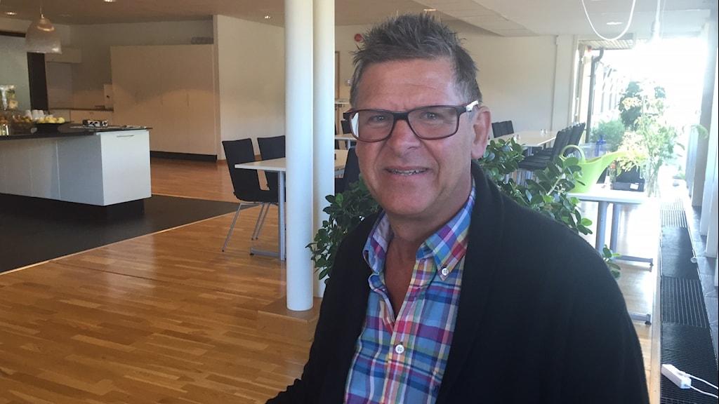 Torsten Nilsson, Nelson Garden i Tingsryd satsar på snabba fröer. Foto: Peje Johansson/Sveriges Radio