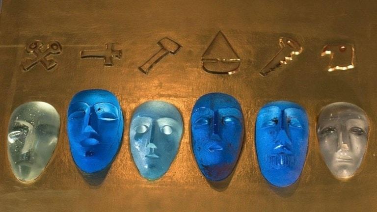 En unik glasskulptur av konstnären Bertil Vallien hittades på en kontroll vid Öresundsbron.