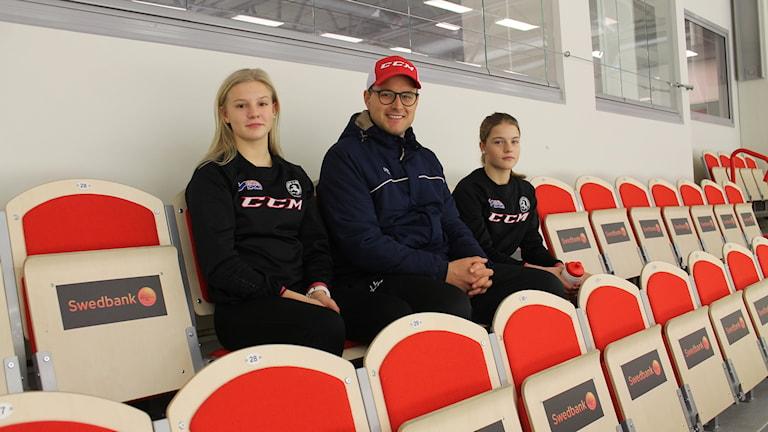 Thea Johansson, Johan Lindh och Alva Solberg.