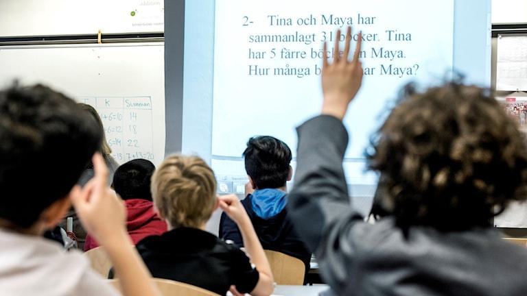 Barn i en skolklass