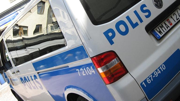 Polisbil. Foto:Jens Pehrson/SR