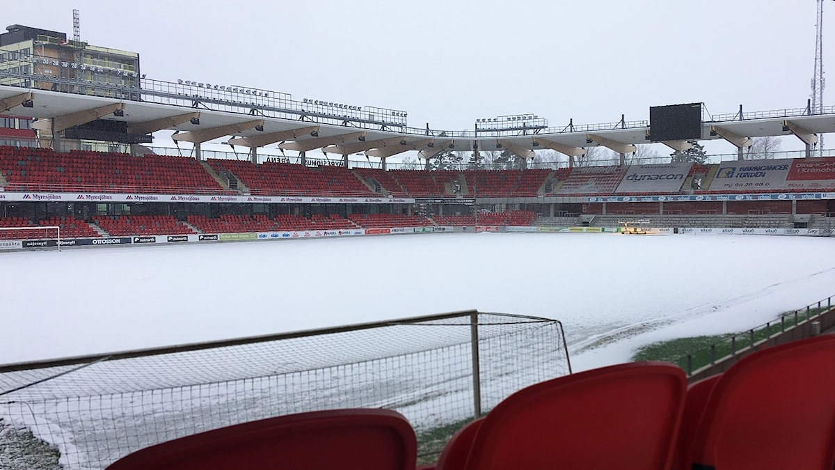 Myresjöhus arena i snöskrud
