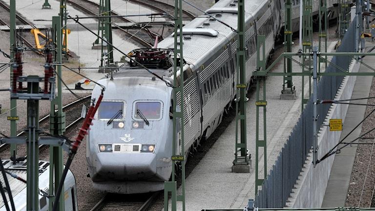 tåg, station, sj, järnväg