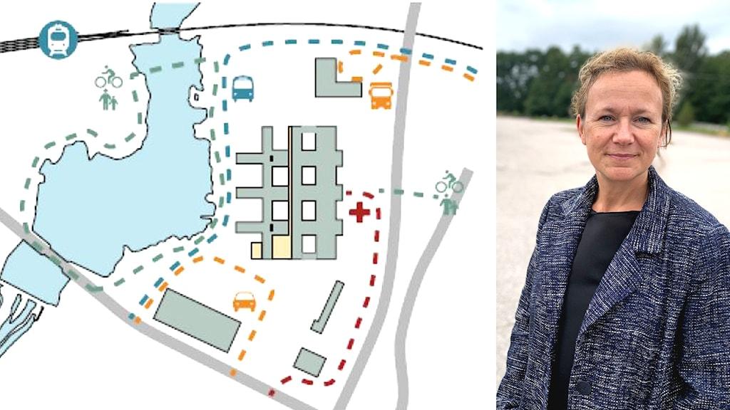 Kristina Thorvaldsson projektledare för stadsutveckling i Växjö kommun.