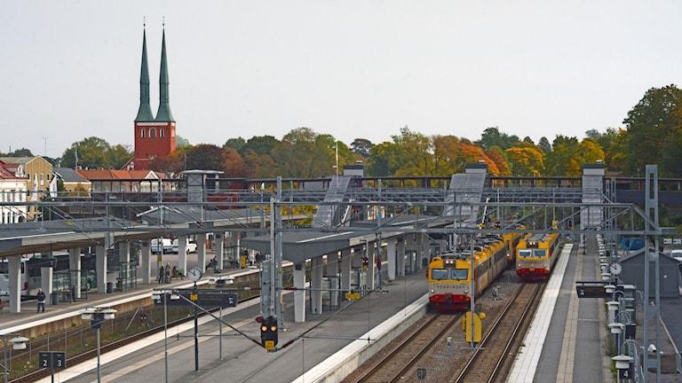 Växjö station, järnväg, SJ, Krösatåg