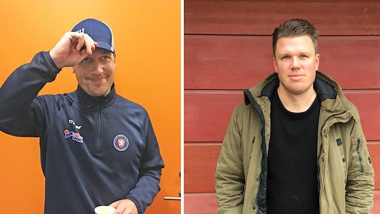 Växjö Lakers tränare Sam Hallam och Östers IF:s tränare Christian Jädler.
