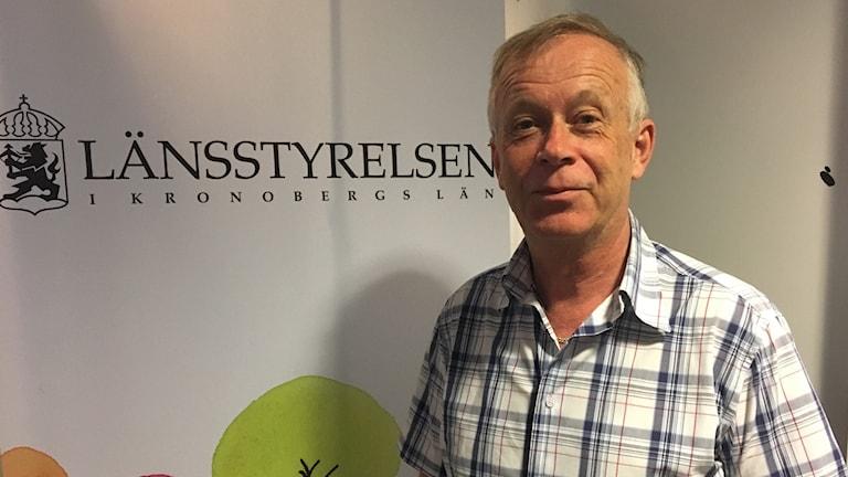 Lennart Grimsbo som är ansvarig för solcellsstöd på länsstyrelsen.