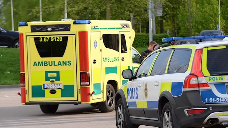Man hittad misshandla i centrala Växjö.