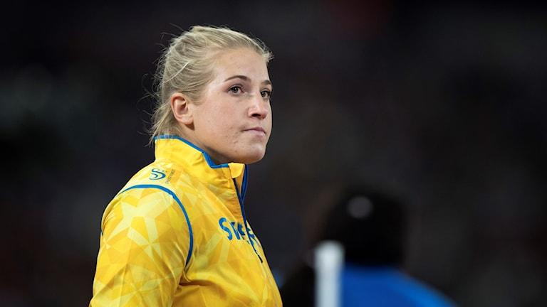 Fanny Roos i sin Sverigeuniform