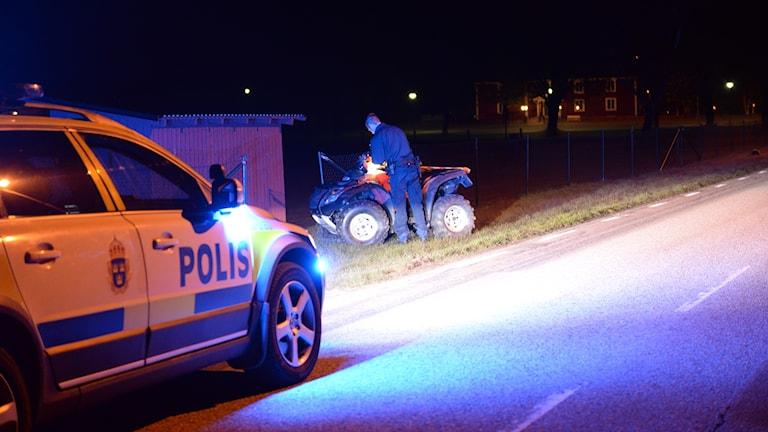 Fyrhjuling i trafikolycka