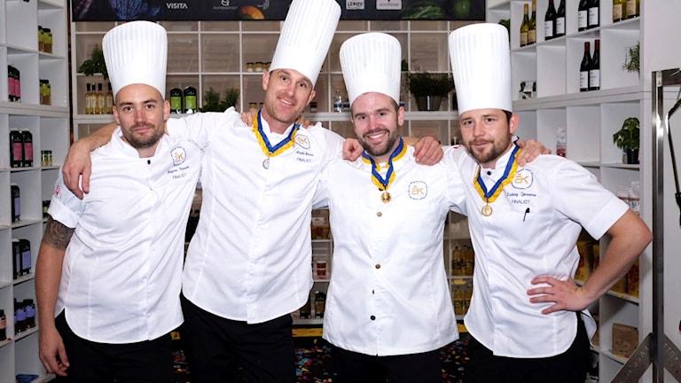 Fyra professionella kockar.