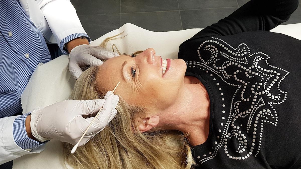 Åza Brennander får botox