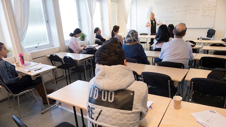 Ett klassrum fyllt med elever