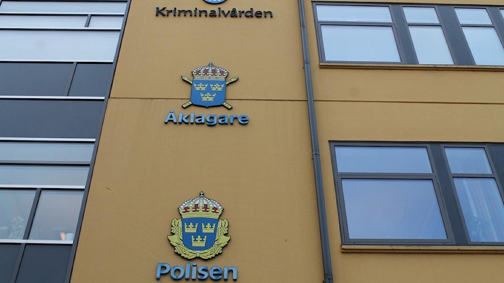 Polisen, Kriminalvården och Frivården i Växjö. Foto: Sandra Douglasdotter/ Sveriges Radio