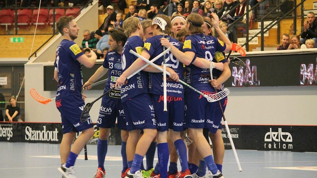 Växjö Vipers firar mål