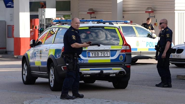 Stort polispådrag efter storbråk i Lessebo.