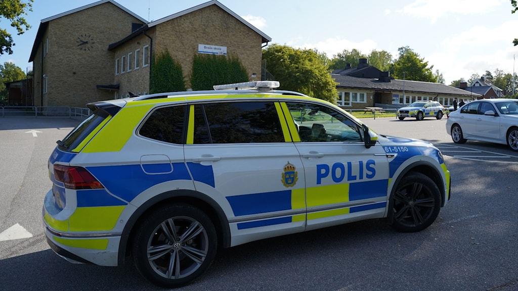 Bombhot mot Braås skola.