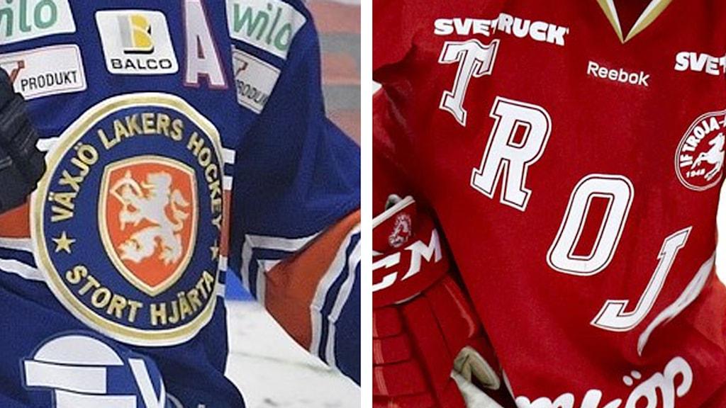 Tröjor Växjö Lakers och Troja-Ljungby