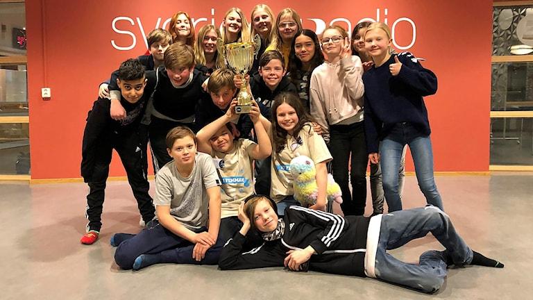 Michael Sävenhed och Noomi Gelber från Bäckaslövskolan 5B vann den lokala finalen.