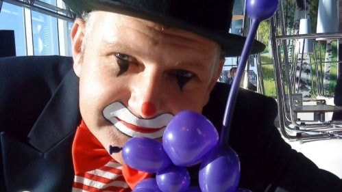 Clownen Mike eller Mikael Lovestadt. Foto: Privat