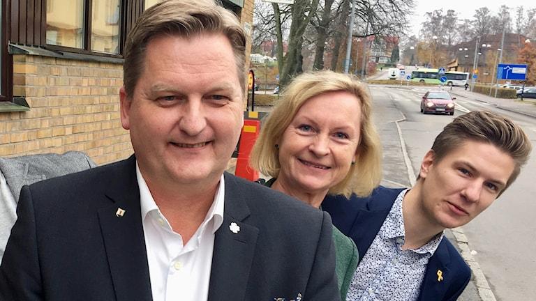 Per Schöldberg, Karin Nilsson och Gusten Mårtensson.