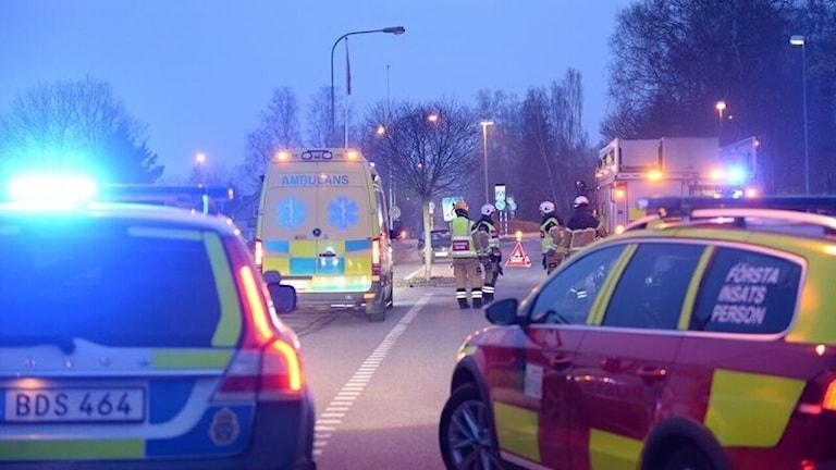 Olyckan skedde i korsningen Sköldstavägen/Värnamovägen.