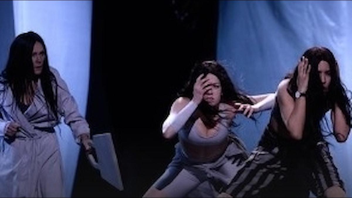 Bild från SVT:s smygtitt på repetitionerna