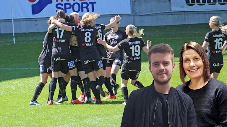 Växjö DFF. Hanna Höckert och David Faxå