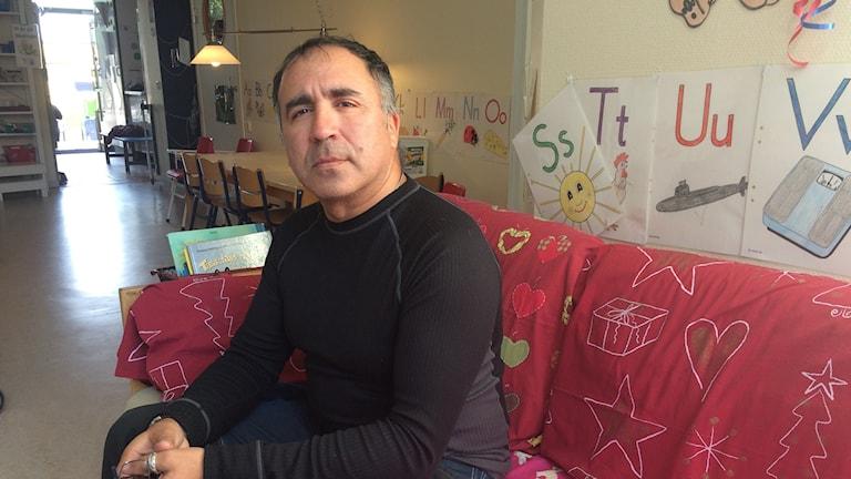 Claudio Pino pedagog på Ulriksbergs förskola