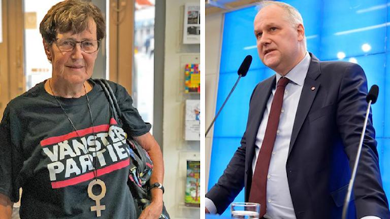 Eva-Britt Svensson och Jonas Sjöstedt.