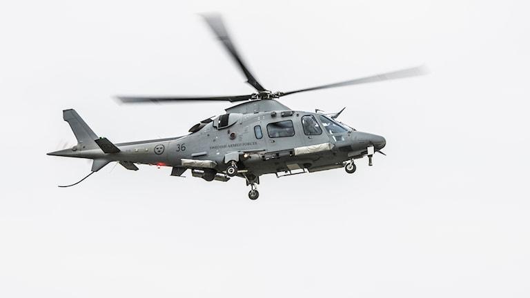 Helikopter i luften. Arkivbild.