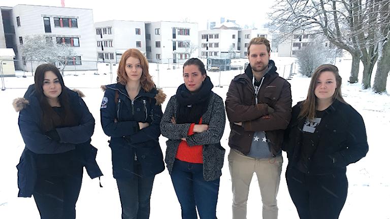 Studenter på Campus i Växjö.