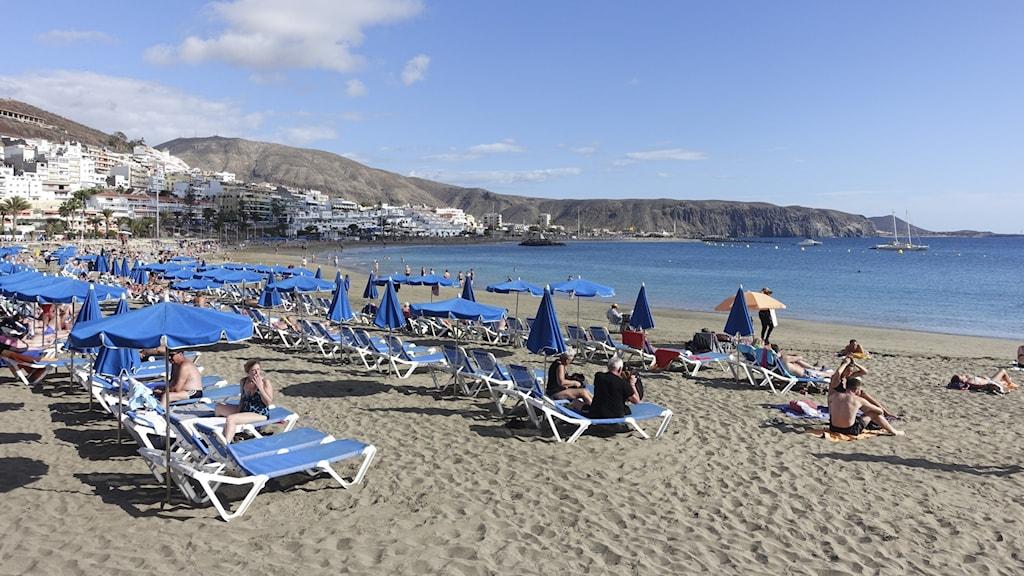 En strand i Spanien.