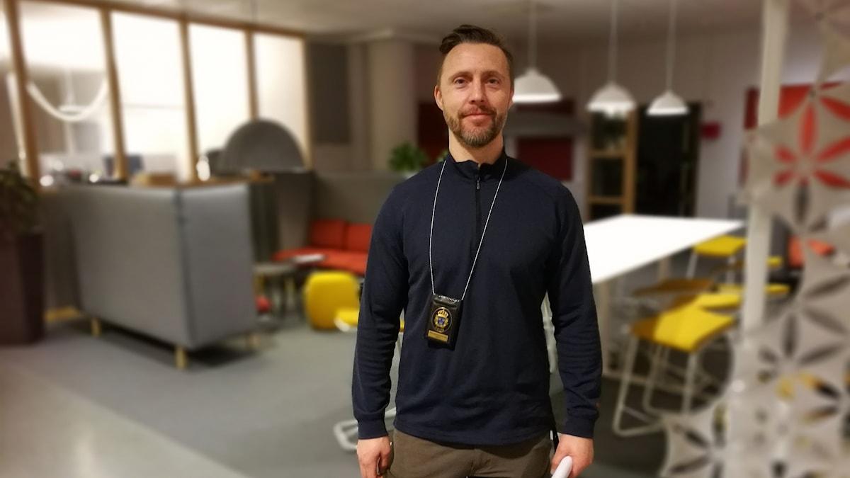Peter Friberg, som är gruppchef för trafikpolisen i Växjö och Alvesta