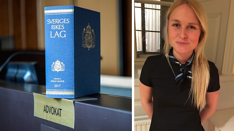 Lagbok och Sofia Stigmar ,från Växjö, som läser juristprogrammet i Stockholm just nu.