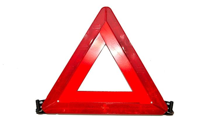 Röd varningstriangel