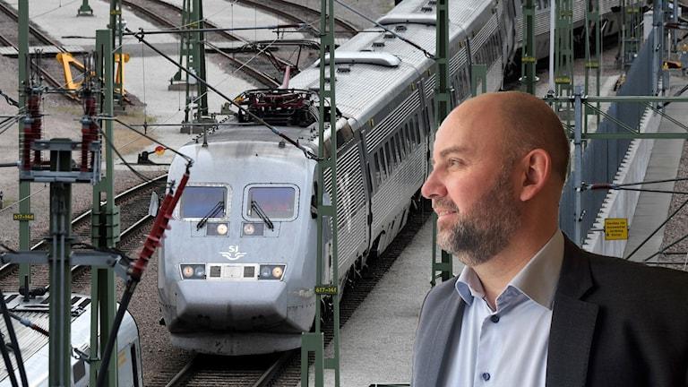 Magnus Gunnarsson med tåg